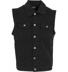 Black Denim Vest