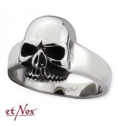 """etNox - ring """"Mid Skull"""" stainless steel"""
