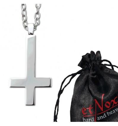 "etNox-pendant ""Inv. Gothic Cross"" steel"