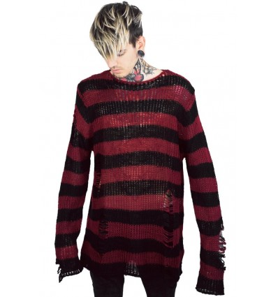 Ash Distress Knit Sweater