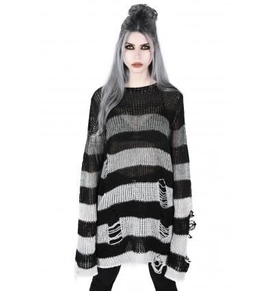 Ash Distress Knit Sweater