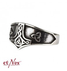"etNox-ring ""Thor´s Hammer"" 925 silver"
