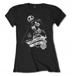 DISNEY LADIES TEE: THE NIGHTMARE BEFORE CHRISTMAS SIMPLY MEANT TO BE
