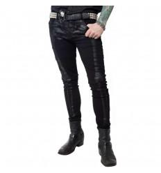 Skeleton Skinny Jeans Black Bone