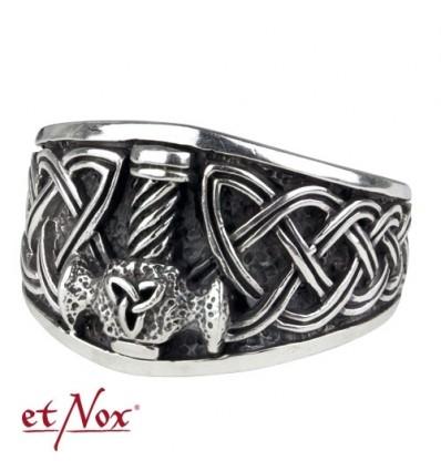 "etNox - ring ""Wolf"" 925 silver"