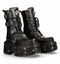 New Rock Leather Boots M-TANK373-S1