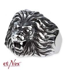 "etNox - ring ""Lion´s Head"" stainless steel"