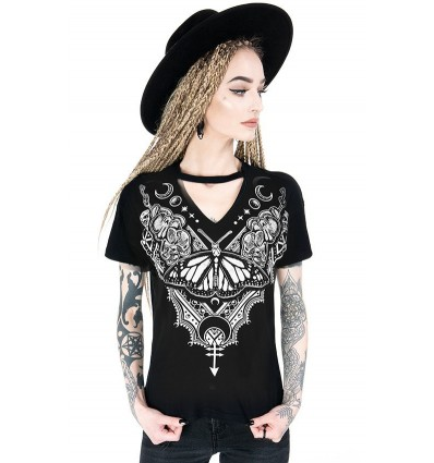 Black gothic choker top Witch & Cats