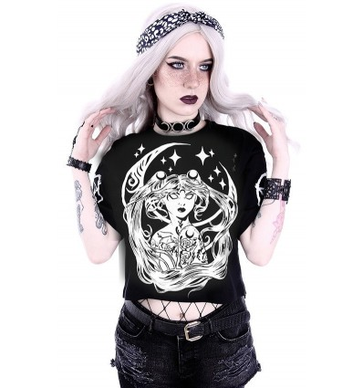 """Crop Top """"THE BADDEST WITCH IN TOWN"""" Gothic blouse"""