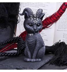 Pawzuph Horned Occult Cat Figurine, 11cms