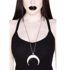 Waxing Crescent Necklace [S]